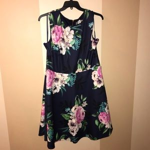NWT Eliza J floral pattern a-line dress